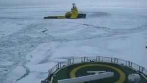 Icebreaker in Baffin Bay